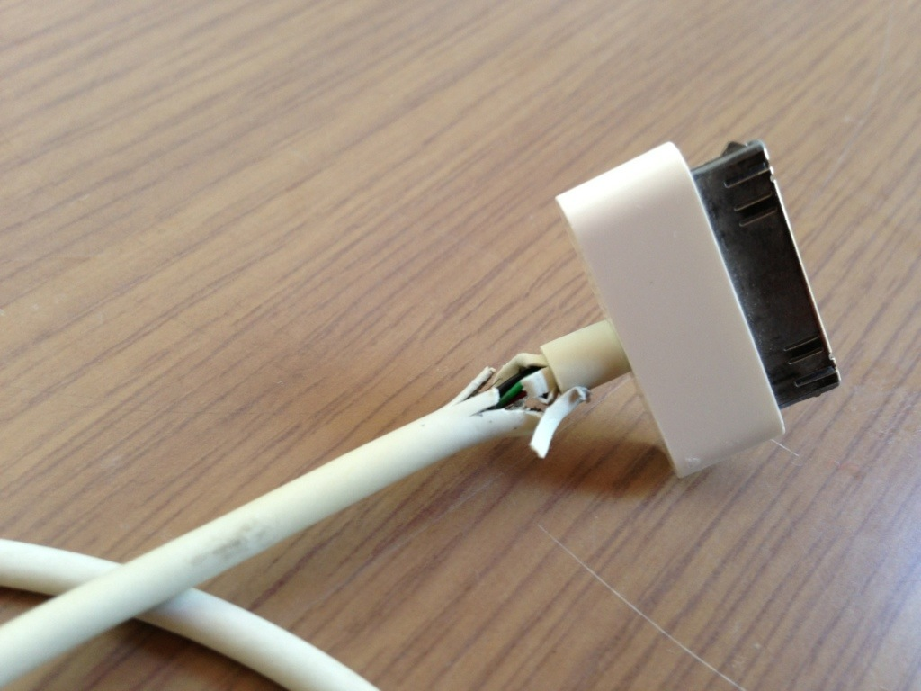 frayed charging cords are a common problem