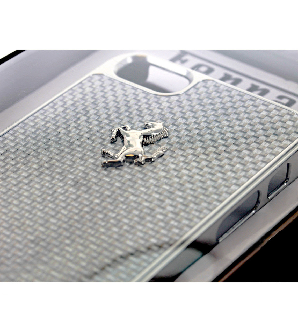 A close up look at the ferrari cell phone case