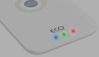 The ECO charging pad's light indicators