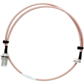 Bolton Technical 1 meter N-Female Bulkhead to QMA-Male Angle Coax RF Pigtail Cable