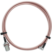 Bolton Technical 2 meter N-Female Bulkhead to QMA-Male Angle Coax RF Pigtail Cable