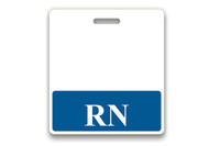 "1350-2130 Badge Buddy - Blue ""RN"" Horizontal - Qty. 25"