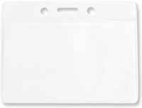 1820-1000 Clear Horizontal Vinyl Color-bar Badge Holder - Data/credit Card Size - Qty. 100