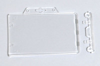 1840-6040 Clear Horizontal Permanent Locking Plastic Card Holder - Qty. 100