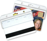 1840-8000 Frosted Rigid Plastic Horizontal Half Card Holder - Qty.100