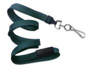 """2137-5018 Teal 3/8"""" Flat Braid Breakaway Woven Lanyard W/ A Universal Slide & NPS Hook - Qty. 100"""