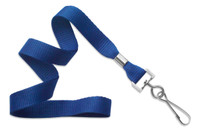 "2136-3502 Royal Blue 5/8"" (16 mm) Microweave Polyester Lanyard W/ Nickel-plated Steel Swivel Hook - Qty. 100"