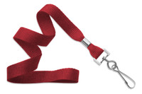 "2136-3506 Red 5/8"" (16 mm) Microweave Polyester Lanyard W/ Nickel-plated Steel Swivel Hook - Qty.100"