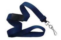 """2138-5003 Navy Blue 5/8"""" Microweave Polyester Breakaway Lanyard W/NPS Swivelhook - Qty. 100"""