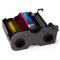 44270 Fargo Color Ribbon & Refillable Cartridge - YMCKO - 250 prints