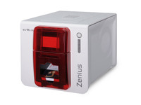 ZN1HB000RS Evolis Zenius Red Expert ID Card Printer Single-Sided with Magnetic Stripe Encoding {map:2145}