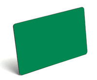 Green Blank PVC Cards