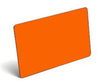 Orange Blank PVC Cards