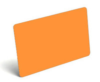 Fluorescent Orange Blank PVC Cards