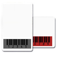 CR80.030 (30 mil) Graphic Quality 100% PVC Cards with a RED Barcode Mask - Qty. 1000