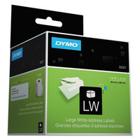 "30321 Dymo 1 4/10"" X 3.5"" White Large Address Label, 260 Per Roll, 2 Rolls Per Box"