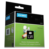"30334 Dymo LabelWriter Medium Multipurpose Labels White 1-1/4"" x 2-1/4"" 1000 per roll"