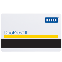 1336LGGMN HID DuoProx II Plain White Proximity Card with Magnetic Stripe, External Numbering & No Slot Punch - Qty. 100