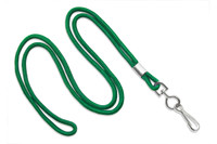 "2135-3004 Green Round 1/8"" Standard Lanyard W/ Nickel Plated Steel Swivel Hook - Qty. 100"
