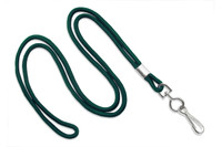 "2135-3014 Forest Round 1/8""  Standard Lanyard W/ Nickel Plated Steel Swivel Hook - Qty. 100"