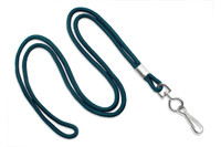 "2135-3016 Teal Round 1/8"" Standard Lanyard W/ Nickel Plated Steel Swivel Hook - Qty. 100"