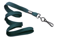 "2135-3786 Teal 3/8"" Flat Braid Woven Lanyard W/ Black-oxide Swivel Hook - Qty. 100"