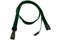 "2137-2059 Forest Green Recycled PET 3/8"" Flat Lanyard W/ Breakaway/""no-twist"" Wide Plastic Hook - Qty. 100"