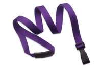 "2137-2061 Purple Recycled PET 3/8"" Flat Lanyard W/ Breakaway/""no-twist"" Wide Plastic Hook - Qty. 100"