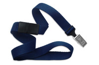 "2138-6003 Navy Blue 5/8"" Microweave Polyester Breakaway Lanyard W/ Slide Adapter - Qty. 100"