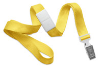 "2138-6009 Yellow 5/8"" Microweave Polyester Breakaway Lanyard W/ Slide Adapter - Qty. 100"