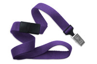 "2138-6013 Purple 5/8"" Microweave Polyester Breakaway Lanyard W/ Slide Adapter - Qty. 100"