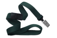 "2138-6014 Forest Green 5/8"" Microweave Polyester Breakaway Lanyard W/ Slide Adapter - Qty. 100"