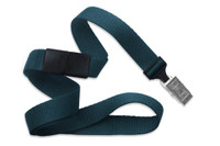 "2138-6018 Teal 5/8"" Microweave Polyester Breakaway Lanyard W/ Slide Adapter - Qty. 100"