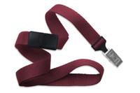 "2138-6035 Maroon 5/8"" Microweave Polyester Breakaway Lanyard W/ Slide Adapter - Qty. 100"