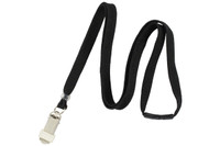"BL-34K6-BLK Black 3/8"" Lanyard With Breakaway and Card Clamp - Qty. 100"