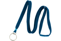 "BL-34R-RBLU Royal Blue 3/8"" Lanyard With Breakaway And Ring"