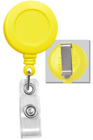 2120-3039 Yellow Badge Reel W/ Clear Vinyl Strap & Belt Clip - Qty. 100