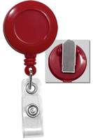 2120-4706 Red Badge Reel with Clear Vinyl Strap & Spring Clip - Qty. 100