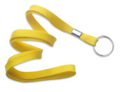 "2135-3659 Yellow 3/8"" Flat Braid Lanyard with NPS Split Ring - Qty. 100"