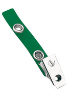 2105-2004 Green Vinyl Strap Clip W/ 2-hole NPS Clip - Qty. 100