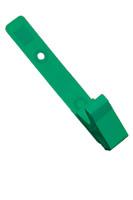 2115-2004 Green Delrin Plastic Strap Clip W/ Knurled Thumb-grip - Qty. 100