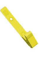 2115-2009 Yellow Delrin Plastic Strap Clip W/ Knurled Thumb-grip - Qty. 100