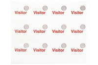 """05623 3 X 3"""" Manual Clip-On Cardbadge Sheets with Expiring Timespot Bp - """"Visitor"""" (Red) - Pkg. 1200"""