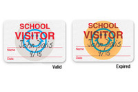 "08106 - Manual School Badge ""SCHOOL VISITOR"" - Pkg of 1,000"