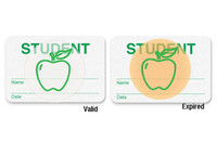 "08107 - Manual School Badge ""STUDENT"" - Pkg of 500"