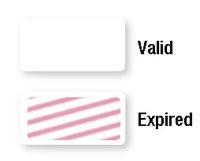 06147 Self-expiring Blank One-day TIMEtoken Indicators - Pkg. of 1,000