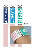 "06884 Pre-printed Expiring Wristband ""LEGAL AGE""  Pkg. of 1,000"