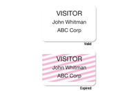 02011 ONEstep Self-expiring TIMEbadge Adhesive Blank One Day Expiration - Thermal Printable. - Pkg of 500