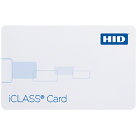 2100CGGNN HID iCLASS 2k Bits Composite Card with 2 App Areas, Configured, Non-Programmed, No External Numbering, No Slot - Qty. 100