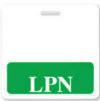 "1350-2131 Badge Buddy - Green ""LPN"" Horizontal - Qty. 25"